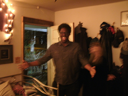 Lady Passion welcomes series host Kamau Bell into the Covenstead.