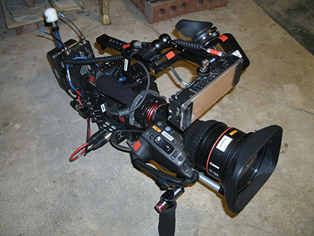 One of the portable TV cameras.