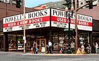 Powells Bookstore corner storefront